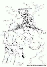 David And Goliath Coloring Book