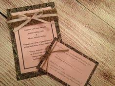 100 Hunting Camo Wedding Invitations A7 and RSVP Cards A2