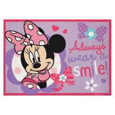 UPC Disney Minnie Mouse Always Wear a Smile Rug