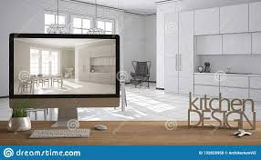 100 Interior Design Words Architect Er Project Concept Wooden Table With House Keys 3D
