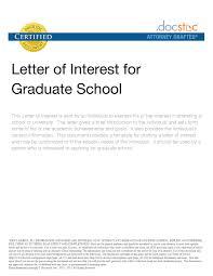 Format For Letter Interest Grad School