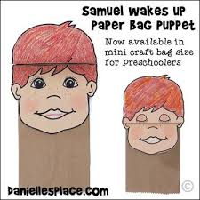 Samuel Paper Bag Puppet Craft For Children This Comes In Two Sizes The
