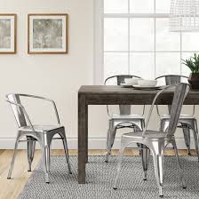 Target Threshold Dining Room Chairs by Carlisle Metal Dining Chair Natural Metal Set Of 2 Target