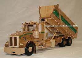 100 Roll Off Dumpster Truck Wooden Model Garbage Truck Dumpster 814 Truck Has All