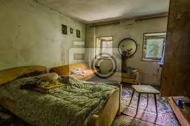 schlafzimmer haus im wald poster myloview