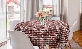 abakuhaus tischdecke kreis tischdecke abdeckung für esszimmer küche dekoration decker kaufen otto