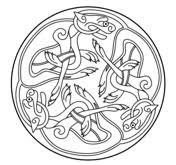 Celtic Ornament Design From Book Of Kells