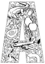 Full Image For Things That Start With A Free Printable Coloring Pages Animal