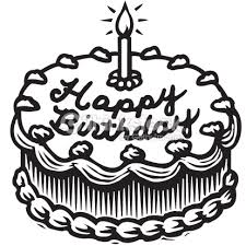 Birthday Cake Clipart Black And White Cake Clipart Black And White Clipartxtras Download Coloring Pages