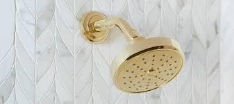 Unlacquered Brass Bath Fixtures by Showering Kallista