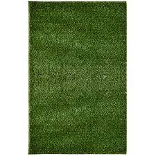 Lanart Rug Green Grass Shag Indoor Outdoor Area Rug 8 Feet x 10