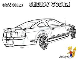 Mustang Colouring Page Of Shelby GT 500 At YesColoring