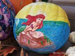 Mermaid Pumpkin Pattern by Ariel The Little Mermaid Pumpkin Halloweentime Disneyland U2013 The
