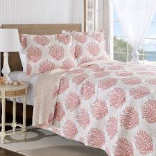 Laura Ashley Home Coral Coast Cotton Reversible Quilt Set by Laura