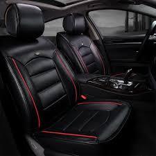 couvre siege auto cuir housse de siège de style cuir voiture sportive achat vente