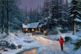 Thomas Kinkade Christmas Tree Cottage by Holidays