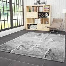 details zu teppich wohnzimmer modern design stein mauer optik in grau weiss hochwertig