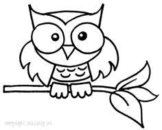 owl drawing easy Google s¸k Owls Blk & Wht✏