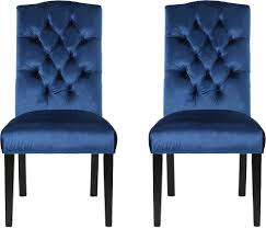Noble House - Velvet Dining Chairs (Set Of 2) - Navy Blue Fairy Contemporary Fabric Ding Chairs Set Of 2 Navy Blue Shelby Chair In Channel Tufted Velvet By Meridian Fniture Hanover Mcer 5piece Patio With 4 Cushioned And A 40inch Square Table Mercdn5pcsqnvy Colston Silver Leaf Including Brookville Harley Traditional Microfiber Details About Bates New Opal Room Gold William
