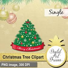 Christmas Tree Clipart Decorated Xmas PNG Holiday