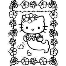 Little Kitty As A Mermaid Hello Plays Violin Coloring Pages