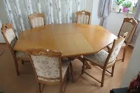 6 eckiger tisch und 6 stühle esszimmer gebraucht eur 20 00