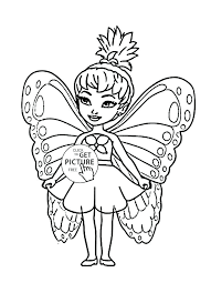 Butterfly Coloring Pages Online For Girls Cute Little Fairy Page Kids