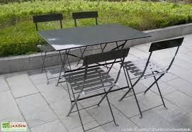 salon de jardin metal pliant table jardin rallonge reference maison