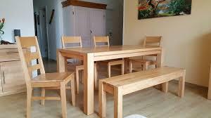 tisch stühle bank massivholz sitzgruppe esszimmer