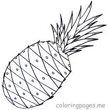 High Quality Free Printable Pineapples Fruit Coloring Pages For Kids