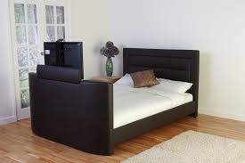 Headboard Designs For King Size Beds by 8 Best Tv Beds With Built In Tvs Qosy