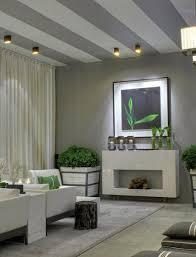 streifen an der decke wohnzimmer grau innenarchitektur