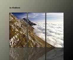 3 teilig moderne bilder wohnzimmer over sky 3x40x80cm