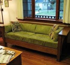 Mission Style Furniture Like This Sofa Gained Popularity In The America Around Turn Of