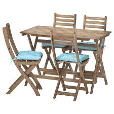 ASKHOLMEN Table+4 Folding Chairs, Outdoor Safavieh Pmdale Natural Brown Folding Wood Outdoor Lounge Chair Adirondack Childrens Fniture By All Things Cedar Kits Osp Home Furnishings Espresso Faux Leather Seat Mission Back 7pc Eucalyptus Oval Fold Store Ding Set With Blue Cushions Red Frame Standard Wooden No Assembly Need Padded Wedding White Resin Deejays Event Rentals Amazoncom Ycsd Simple Soft Cloth Cushion Beautiful Goods Muji Ryohin Folding Chair Wooden Stock Image Image Of Cushion Seat 1164775 Seeksung Stools