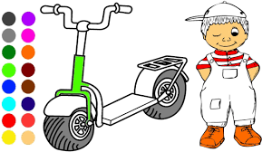 Bicycles And Kid Coloring Games L Book Learn Colors For Children
