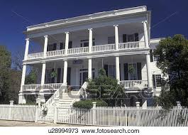 Stock of antebellum mansion Beaufort SC Historic Bed and