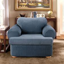 Furniture: Spectacular T Cushion Chair Slipcovers With ... Sure Fit Stretch Stripe Wing Chair Slipcover Walmartcom Fniture Armless For Room With Unique Striped Wingback Beachy Blue White Surefit Sage Double Diamond Slipcovers Navy Parsons Used Moving Piqu One Piece Form Machine Washable Shop Ticking Free Indoor Chairs Covers Maytex Pixel 1 Back Arm Complete Your Collection Custom By Shelley Wingback Chair