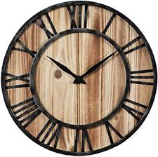 haunen 23 6zoll 60cm wanduhr vintage ohne tickgeräusche wanduhr holz groß uhr uhren wall clock für wohnzimmer schlafzimmer kinderzimmer büro