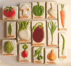 Italian Tuscan Decor Vegetable Plaques