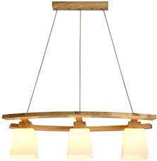 kronleuchter aus holz mit glasschirm hängeleuchte moderne esszimmer len pendelleuchte dekoration beleuchtung licht für esstisch küche