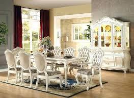 Antique White Dining Room Set Formal In