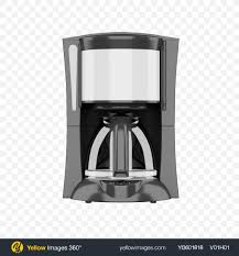 Download Brew Filter Coffee Maker Transparent PNG On Yellow Images 360