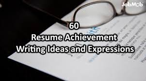 60 Resume Achievement Writing Ideas And Expressions