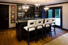 Outdoor Bar Lighting Ideas Home Transitional With Wine Fridge Raised Countertop