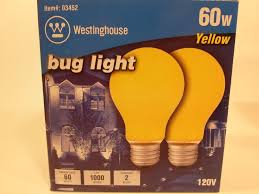 westinghouse 03452 a19 60w yellow bug light 120v incandescent bulb