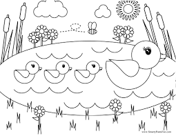 Spring Coloring Pages Toddlers Archives Within Springtime Printable
