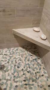 shower pebble shower floor stunning building a tile shower floor