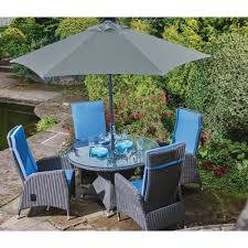 Harrows Artificial Christmas Trees by Harrow Round 4 Seat Garden Dining Set Inc Cushions Bosworths