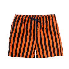 100 Coco Republic Sale Mens Panel Striped Board Shorts In Orange